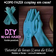 H-SAMA blog: COMO FAZER? cosplay ELSA vestido da Coroação (Coronation Gown) - Frozen luvas gloves