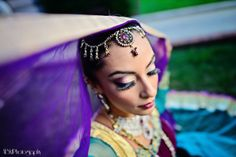 indian wedding makeup and eyelashes