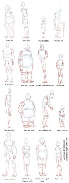 Anatomy Drawing Reference Body Shapes by Expression - Drawing Reference Poses, Anatomy Reference, Human Reference, Character Reference, Character Concept, Pencil Art Drawings, Art Drawings Sketches, Body Sketches, Drawing Tips