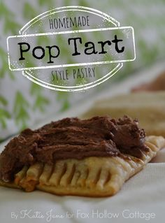 Bake it: homemade pop tart style breakfast pastry recipe | #4 flavors | #pastry #recipe
