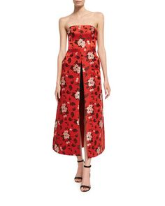 275b41ad42d Jeri+Strapless+Floral-Print+Romper+W +Overskirt+by