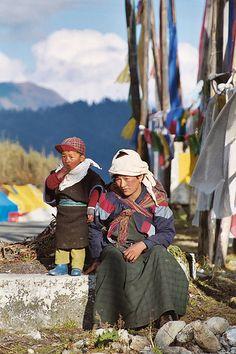Yak herders in Bhutan