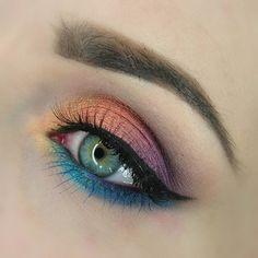 Rainbow - #eyeshadow #eyes #eyemakeup #eyes #rainbow