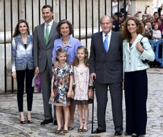 20 April 2014 Spanish Royal family attends Easter morning services