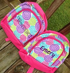 Small Toddler Preschool Small backpack book bag Personalized Monogrammed Name on Etsy, $20.00