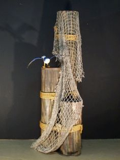 Set of Pilings with Fishnet