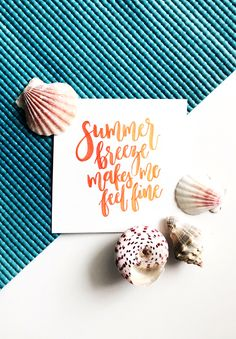 Drawn to DIY - Summer Breeze lettering free printable Brush Lettering, Lettering Design, Lettering Ideas, Summer Diy, Summer Crafts, Free Printable Art, Free Printables, Free Graphics, Summer Breeze