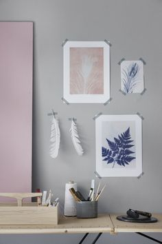 Leaves by Pernille Folcarelli Interior Styling, Interior Decorating, Rustic Laundry Rooms, Bright Decor, Living Room On A Budget, Wonderwall, Office Interiors, Home Decor Bedroom, Photo Wall Art