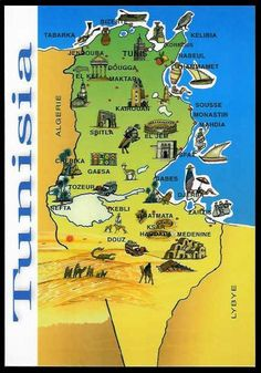 postcard Tunisia