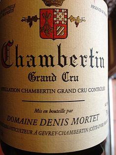 Denis Mortet, Chambertin 2001, Grand Cru, Côtes de Nuits, Burgundy, France