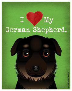 I+Love+My+German+Shepherd++I+Heart+My+German+by+DogsIncorporated,+$20.00