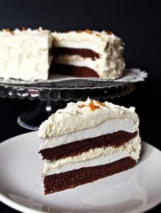 Citromhab: Narancstorta Cold Desserts, Just Desserts, Doughnut Cake, Hungarian Recipes, Hungarian Food, Sweet And Salty, Let Them Eat Cake, Cake Cookies, Vanilla Cake