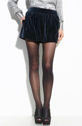 Theory 'Waloma - Matte Velvet' Miniskirt $225