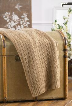Ralph Lauren cashmere cabled blanket