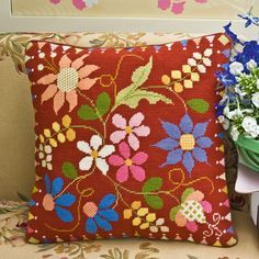 Image result for Ehrman Tapestry Red Orchids