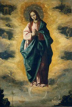 """""""Immaculada Concepcion""""  --  Circa 1630  --  Francisco de Zurbarán  --  Spanish  --  Oil on canvas  --  Museo del Prado, Madrid"""