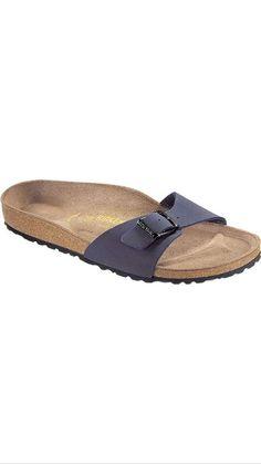 Birkenstock Madrid Unisex Navy 040123 #Birkenstock #Sandals