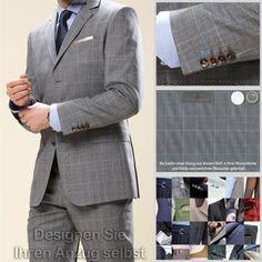 Vitale Barberis Anzug (nach Ihren Wünschen gefertigt) alle Größen, Schurwolle | eBay  zu finden in unserem eBay-Shop unter http://stores.ebay.de/jkkonfektion  In unserem Shop bieten wir Ihnen die größte Auswahl an Anzügen und Sakkos die Sie in Ebay finden werden. Sie haben die Möglichkeit den Stoff, den Schnitt, die Form, alle Ausstattungsdetails für Ihren Anzug oder Ihr Sakko selbst zu wählen. In jeder Größe! Ganz individuell - einfach einzigartig!
