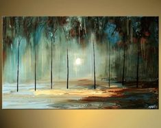 Modern landscape painting by the artist Osnat Tzadok. Choose from thousands of modern, contemporary and abstract paintings in this online art gallery. Abstract Art Painting, Modern Landscape Painting, Art Painting, Modern Painting, Abstract Painting, Painting, Abstract, Canvas Painting, Forest Painting