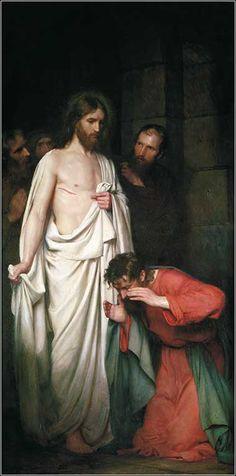 The Doubting Thomas by Carl Heinrich Bloch, ca. 1881.
