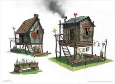 Fable 3 Concept Art by Emrah Elmasli ? Concept Art World, Environment Concept Art, Environment Design, Bg Design, Prop Design, Fable 3, Building Art, Building Concept, 3d Fantasy