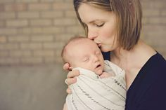 Mom kissing newborn baby by @shallyse | Two Bright Lights :: Blog