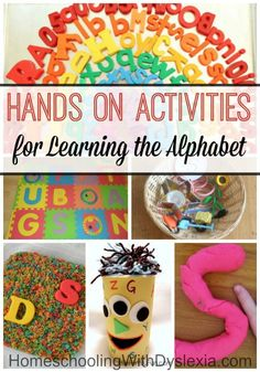 Teaching kids the alphabet with multisensory activities is not only fun but way more effective. Here are some fun hands-on activities for learning the alphabet that we think your kids will love! Teaching The Alphabet, Alphabet Activities, Hands On Activities, Classroom Activities, Learning Activities, Preschool Activities, Teaching Kids, Kids Learning, Learning Letters