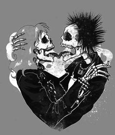 Sid and Nancy Valentine's day For Her Fir Him Punk Art, Arte Punk, Sid And Nancy, Dark Love, Arte Horror, Photo Art, Illustration, Art Drawings, Artsy