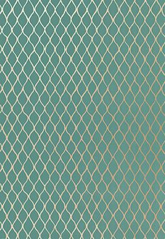 Wallpaper | Schumacher - Valencia - Turquoise For the powder bath?!?