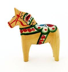"""Natural Wood Dala Horse - 4"""""""