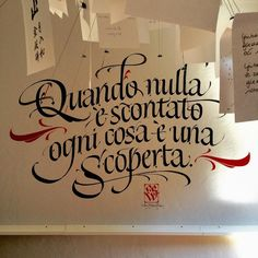 Calligraphy by Luca Barcelona