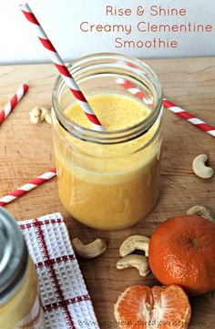 Rise & Shine Creamy Clementine Smoothie - so delicious!!