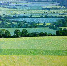 Summer fields, acrylic, Ewa Adams
