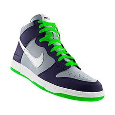 I designed this at NIKEiD. Seahawks shoes ... obsessed