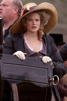 #GabriellaWilde as #CarolinePenvenen. Filming #Poldark