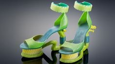 South African Electrical Engineer and Designer Takes 3D Printing to Fashionable New Heights http://3dprint.com/18076/3d-dragon-shoes/