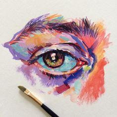 Noel Badges Pugh acrylic paint on paper? Art Sketches, Art Drawings, Oil Pastel Drawings, Pencil Drawings, Gcse Art Sketchbook, Sketchbook Tumblr, Sketchbook Ideas, Posca Art, Fantasy Kunst