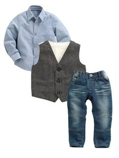 Ladybird Boys Jeans, Shirt and Waistcoat Set (3 Piece), http://www.littlewoods.com/mobile/ladybird-boys-jeans-shirt-and-waistcoat-set-3-piece/1314313003.prd