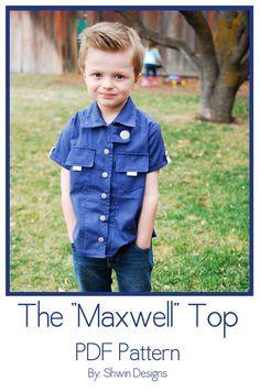 Maxwell Shirt Pattern--finally a cute BOY pattern!!