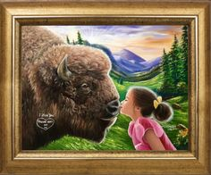 """'""""I love you💕 Please don't eat me"""" painted by Jean Cathcart.  Have a wonder Sunday everyone!!😊😊😍😍😘😂😇😇😇😇' created in #neybers"""