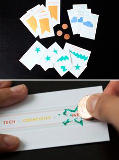 Make your own scratch-off business cards