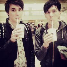 "(FC Dan Howell and Phil Lester. Dan is on the left Phil on the right) Dan) ""hey im Dan I have a YouTube channel called danisnotonfire. I am 19 and single"" (yes i know not his age but deal with it) Phil) ""and im Phil! Im 19 and single and also have a YouTube account called amazingphil"" Dan and Phil) ""we live together, British and single, come and say hi?"""