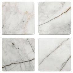 Placemats + Coasters In A Variety Of Different Styles + Colours! Bouclair, Marble Coasters, Table Linens, White Marble, Decoration, Different Styles, Natural Stones, How To Look Better, Colours
