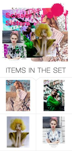"""Scissor Sisters"" by ella-ancuta ❤ liked on Polyvore featuring art"