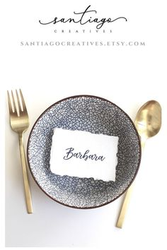 place cards printed on cotton rag paper with deckled edge - beautiful for modern wedding, baby shower, or special event! Modern Wedding Favors, Modern Wedding Stationery, Minimalist Wedding Invitations, Rustic Wedding, Elegant Wedding, Wedding Ideas, Wedding Invitation Etiquette, Wedding Invitation Inspiration, Wedding Etiquette