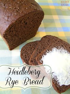 Do you like rye bread? I do and I can't wait to try out this recipe that Kitchen Kneads added to our Bread Baker's Series. This bread looks amazing and sounds simple to make. That's a great combination in my book!  http://www.kitchenkneadsblog.com/2013/08/heidleberg-rye-bread.html
