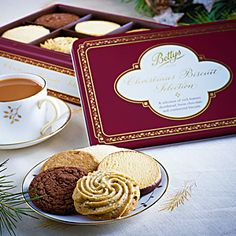 Bettys Christmas Biscuit Selection Tin | Packed with continental classics and rich buttery shortbreads from our Craft Bakery.