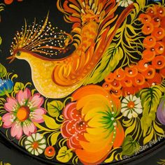 Petrykivka folk art smallplate