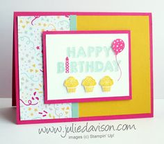 Stampin' Up! Party Wishes Birthday Card + Stamp of the Month Club Reveal