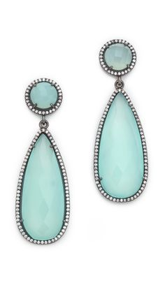 crown double drop earrings / susan hanover